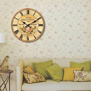 時計 壁掛け時計 静音時計 インテリア プロヴァンス 北欧風