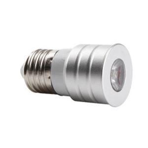 E26LEDスポット電球 クロム1*1W90lm 120° 電球色・昼白色・昼光色 AC85-256V
