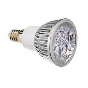 E14LEDスポット電球 クロム4*1W360lm 25-40° 電球色・昼白色・昼光色 AC85-256V
