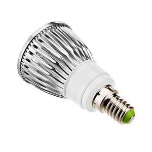 E12LEDスポット電球 クロム3*2W360lm 25-40° 電球色・昼白色・昼光色 AC85-256V