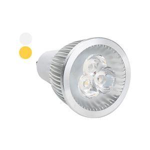 GU10LEDスポット電球 クロム3*2W360lm 25-40° 電球色・昼白色・昼光色 AC85-256V