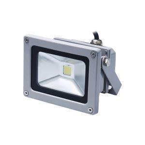 10WLED投光器 作業灯 防犯灯 800LM 電球色・昼光色 AC85-265V 灰色