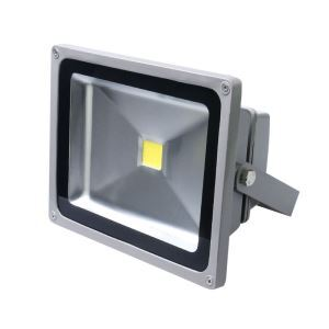20WLED投光器 作業灯 防犯灯 1800LM 電球色・昼光色 AC85-265V 灰色