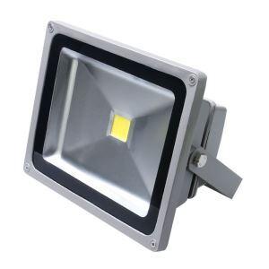 50WLED投光器 作業灯 防犯灯 4500LM 電球色・昼光色 AC85-265V 灰色