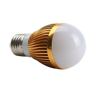 E26 LED電球 3W400lm 180°SMD 5050 電球色・昼白色・昼光色 AC85-265V 金色