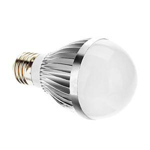 E26 LED電球 3W400lm 180°SMD 5050 電球色・昼白色・昼光色 AC85-265V 銀色