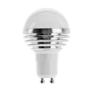 GU10 LED電球 3W240lm 180°SMD 5050 電球色・昼白色・昼光色 AC85-265V 銀色