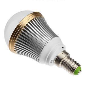 E12 LED電球 3W240lm 180°SMD 5050 電球色・昼白色・昼光色 AC85-265V 銀色