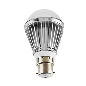 B22 LED電球 3W240lm 180°SMD 5050 電球色・昼白色・昼光色 AC85-265V 銀色