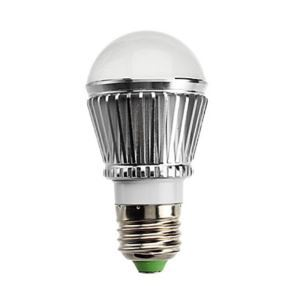 E26 LED電球 3W240lm 180°SMD 5050 電球色・昼白色・昼光色 AC85-265V 銀色