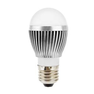 E26 LED電球 5W560lm 180°SMD 5050 電球色・昼白色・昼光色 AC85-265V 銀色