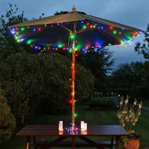 【防雨】ストリングライト LEDイルミネーション 12M100球LEDライト 7色