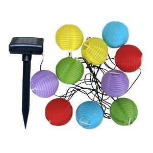 【防雨】ストリングライト LEDイルミネーション 10球ソーラーライト 燈籠