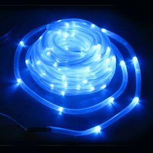 【防雨】ブルーストリングライト LEDイルミネーション 100球LEDソーラーライト