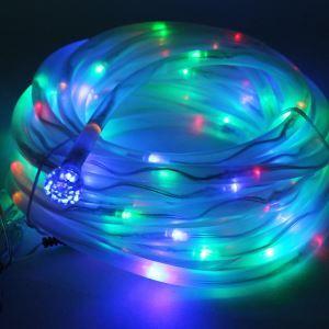 【防雨】ストリングライト LEDイルミネーション 100球LEDソーラーライト 多色