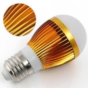 E26 3W  LED電球 270lm 電球色・昼光色 AC85-265V 金色