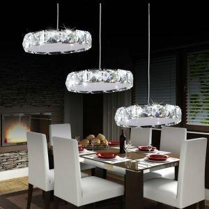 15W LEDペンダントライト 天井照明 クリスタル照明器具 ステンレス製 3灯