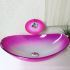 洗面ボウル&蛇口セット 洗面台 洗面器 手洗器 手洗い鉢 洗面ボール 排水金具付 芸術的 ピンク 楕円形 VT0005