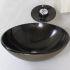 洗面ボウル&蛇口セット 洗面台 洗面器 手洗器 手洗い鉢 洗面ボール 排水金具付 芸術的 黒色 網柄 VT0024
