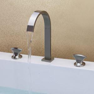 洗面蛇口 バス蛇口 浴室水栓 2ハンドル混合栓 光沢