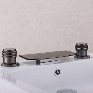 浴槽水栓 浴室用水栓 滝状吐水口 2ハンドル混合栓 ORB