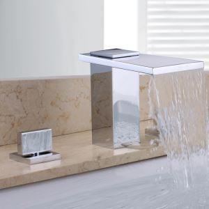 洗面蛇口 バス蛇口 浴室水栓 2ハンドル混合栓 クロム