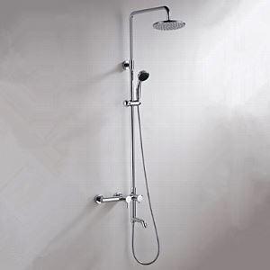 レインシャワーシステム ヘッドシャワー+ハンドシャワー+蛇口 クロム