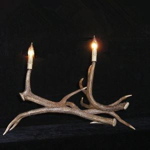 鹿角テーブルランプ 卓上照明 鹿角照明 テーブルライト 間接照明 樹脂 2灯