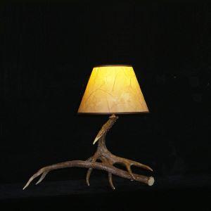 鹿角テーブルランプ 卓上照明 間接照明 テーブルライト 鹿角照明 樹脂製 茶褐色 1灯 LED電球付 LM2L1N1