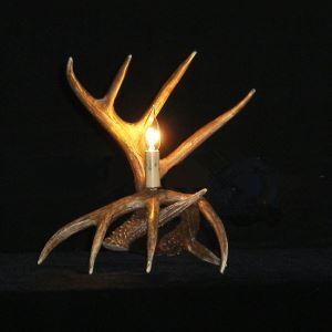 鹿角テーブルランプ 卓上照明 鹿角照明 テーブルライト 間接照明 樹脂製 茶褐色 1灯 LED電球付 LWL1N1