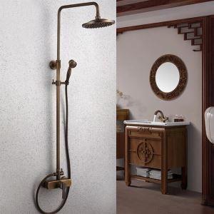 レインシャワーシステム シャワーバー ヘッドシャワー+ハンドシャワー バス水栓 アンティーク