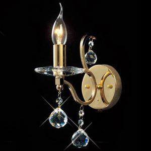 壁掛けライト ウォールランプ クリスタル照明 照明器具 ブラケット 金色&銀色 1灯