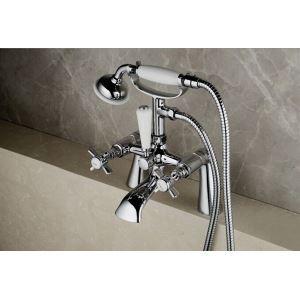 浴槽水栓 浴室用水栓 ハンドシャワー付き クロム