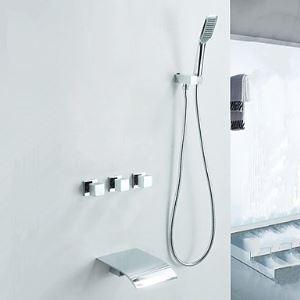 埋込形シャワー水栓 シャワーシステム バス蛇口 ハンドシャワー+蛇口付き 混合栓 クロム