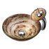 洗面ボウル&蛇口セット 洗面台 洗面器 手洗器 手洗い鉢 洗面ボール 排水金具付 芸術的 円形 VT0025