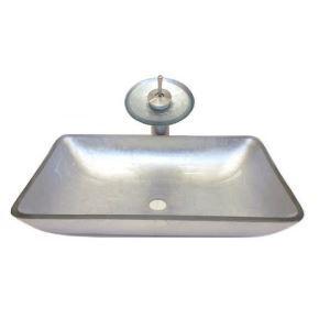 洗面ボウル&蛇口セット 洗面台 洗面器 手洗器 手洗い鉢 洗面ボール 排水金具付 芸術的 方形