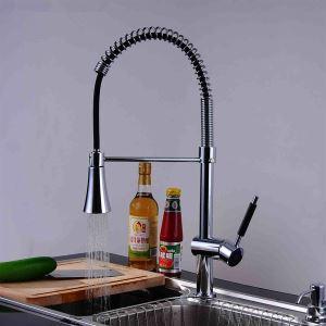 キッチン蛇口 台所蛇口 冷熱混合水栓 クロム(1018-LK-2072)