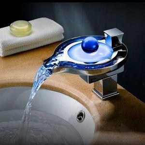 3色LEDバス水栓 洗面蛇口 温度センサー付