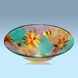 彩色上絵洗面台 洗面器 手洗器 手洗い鉢 洗面ボウル 排水金具付
