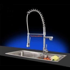 キッチン蛇口 台所蛇口 2吐水口水栓 クロム