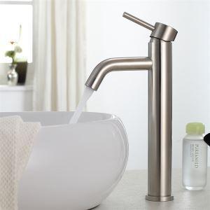バス水栓 洗面蛇口 冷熱混合水栓 水道蛇口 ヘアライン H30cm