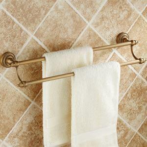 浴室二重タオルバー タオル掛け タオル収納 壁掛けハンガー バスアクセサリー アンティーク