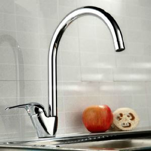 キッチン蛇口 台所蛇口 冷熱混合水栓 クロム(3333-050)