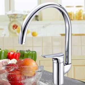 キッチン蛇口 台所蛇口 冷熱混合水栓 クロム(3312-122)