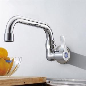 キッチン蛇口 台所蛇口 壁付水栓 単水栓 クロム(7714-238)
