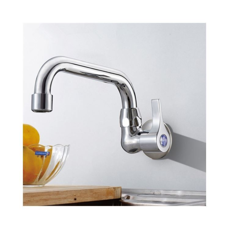 キッチン蛇口 台所蛇口 壁付水栓 単水栓 クロム 7714 238