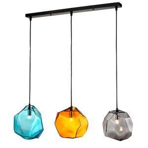 ペンダントライト 照明器具 玄関照明 店舗用照明 ガラス製 3色 3灯 PL0005