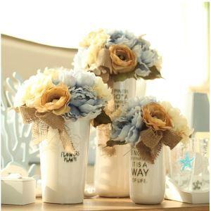 造花 牡丹 花瓶付き