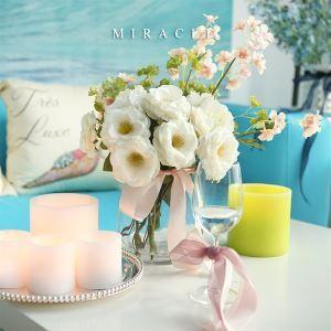 造花バラガラス花瓶付き