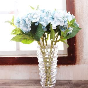 造花 ブルー 花瓶付き